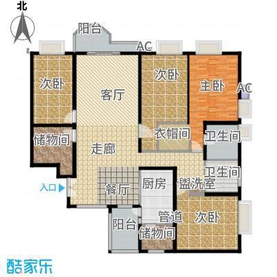 珠江广场234.47㎡晴居E面积23447m户型