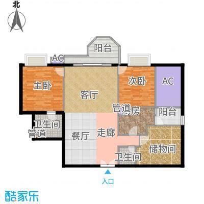珠江广场127.10㎡1271面积12715m户型