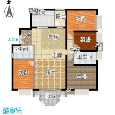 珠江广场170.71㎡晴居H面积17071m户型