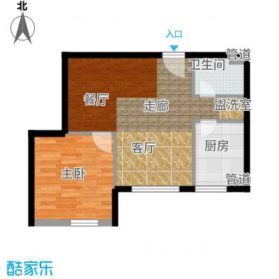 珠江广场45.00㎡1面积4500m户型