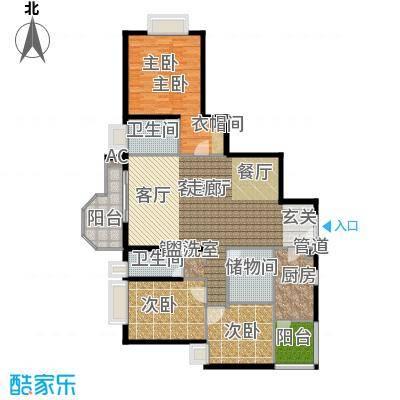 珠江广场154.36㎡丽舍A面积15436m户型