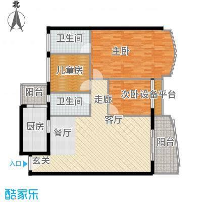 荔城碧桂园133.00㎡面积13300m户型