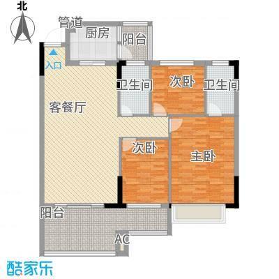 新天美地花园116.43㎡1期2栋标准面积11643m户型