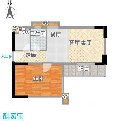 馨润尚寓63.90㎡B2座12单位面积6390m户型