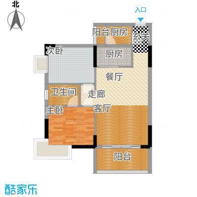 骏辉雅苑92.30㎡二期03面积9230m户型