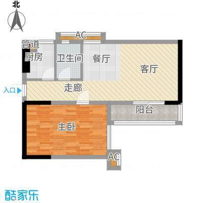 馨润尚寓63.90㎡B2座12单元面积6390m户型
