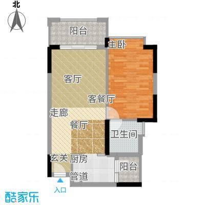 雅居乐城南源著61.19㎡16栋303户面积6119m户型