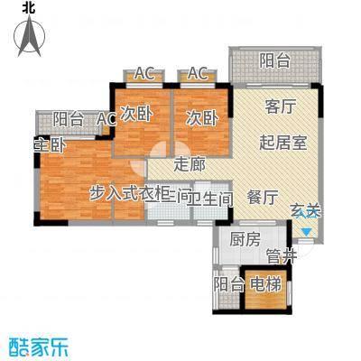 金河湾家园121.00㎡1幢2-11层标准面积12100m户型