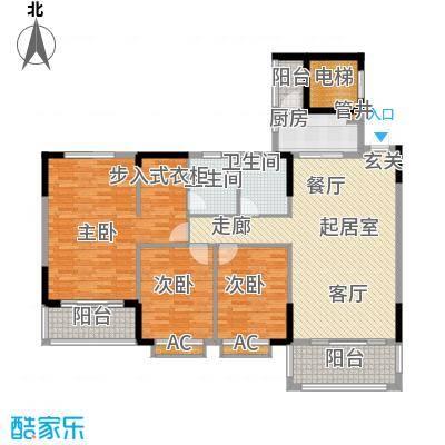 金河湾家园142.00㎡1幢1-11层标准面积14200m户型