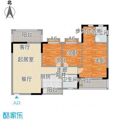 金河湾家园135.00㎡1幢2-11层标准面积13500m户型