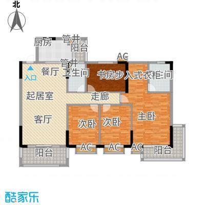 金河湾家园154.00㎡1幢1-11层标准面积15400m户型