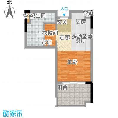 雅居乐城南源著47.80㎡1栋314户面积4780m户型