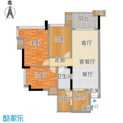 雅居乐七里海99.00㎡1栋05单位面积9900m户型
