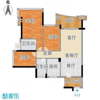 雅居乐七里海123.00㎡2栋、3栋03面积12300m户型