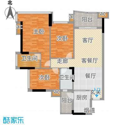 雅居乐七里海112.00㎡1栋03单位面积11200m户型