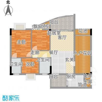 万虹花园107.00㎡二期单位3面积10700m户型