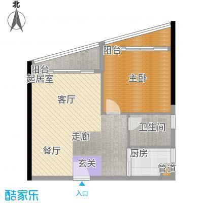 嘉诚国际公寓68.00㎡18单元1室面积6800m户型
