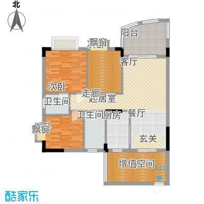 万虹花园100.43㎡三期C7栋04单位面积10043m户型