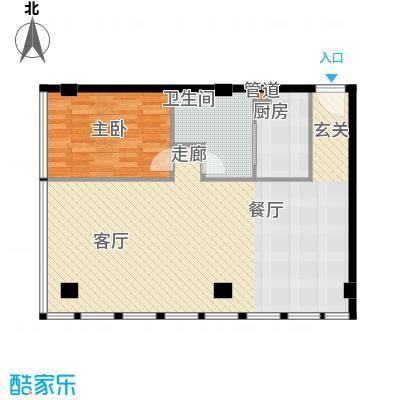 富力盈丰大厦87.86㎡一居公寓1面积8786m户型