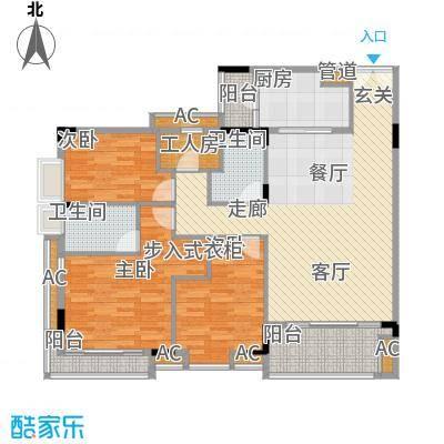 喜盈雅境122.35㎡九座02单元4室面积12235m户型