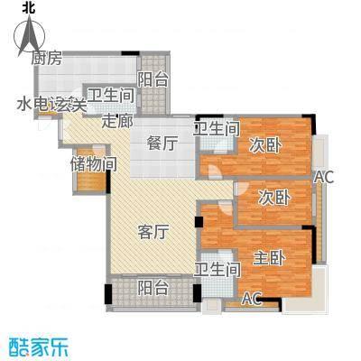 喜盈雅境163.73㎡三座01单元4室面积16373m户型