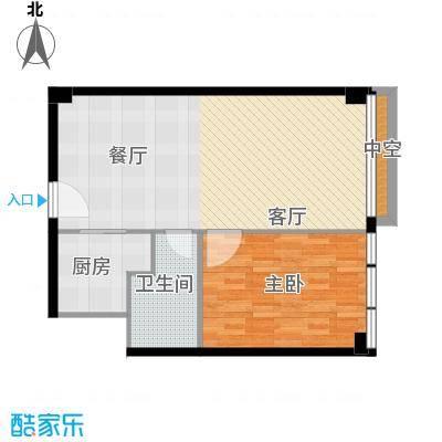 富力盈丰大厦73.33㎡一居公寓1面积7333m户型