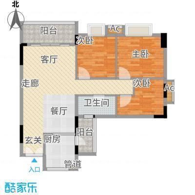 喜盈雅境82.17㎡五座02单元3室面积8217m户型