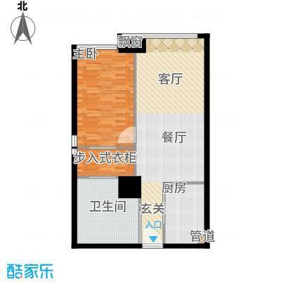 富力盈丰大厦90.89㎡一居公寓1面积9089m户型