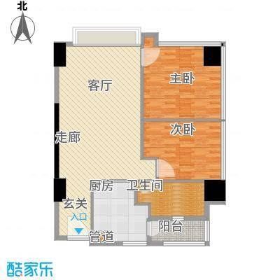 富力盈丰大厦101.93㎡两居公寓2面积10193m户型