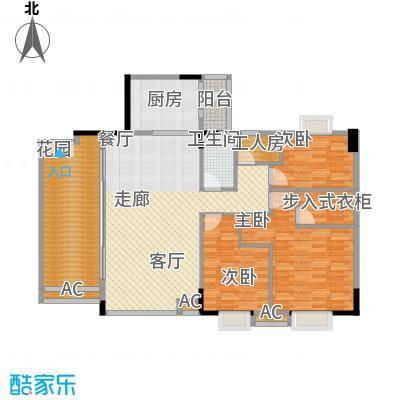 喜盈雅境143.33㎡六座01单元4室面积14333m户型