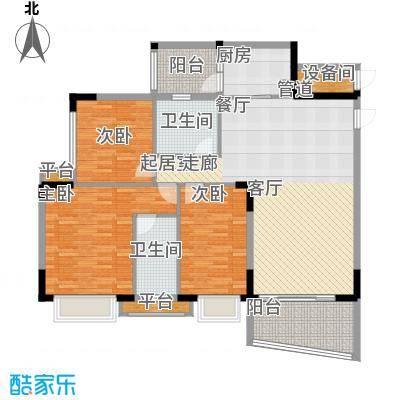 沁馥佳苑125.00㎡面积12500m户型