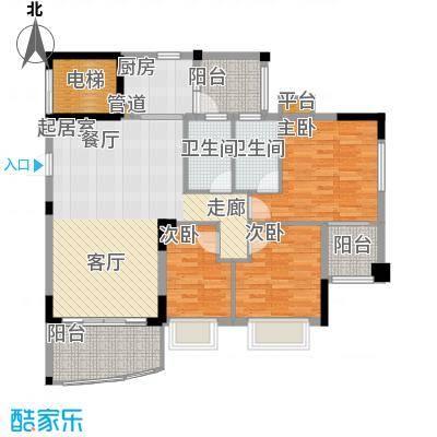 沁馥佳苑106.00㎡面积10600m户型