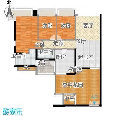 凯旋门137.00㎡4座03单元(3-19单面积13700m户型