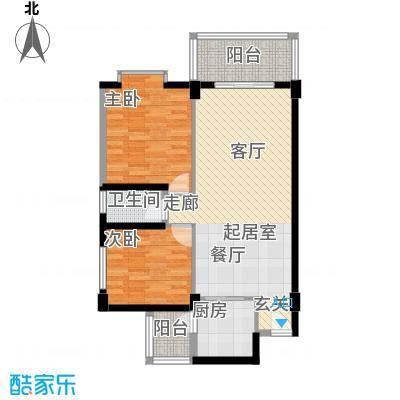 东悦雅苑77.00㎡2面积7700m户型
