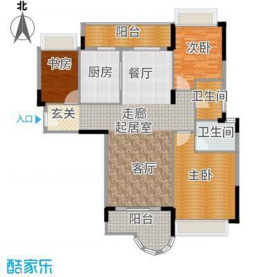 雅居乐雍逸豪廷134.73㎡Y18座203面积13473m户型