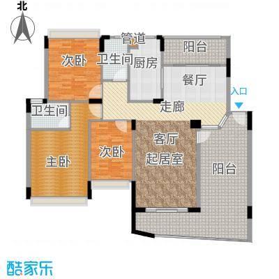雅居乐雍逸豪廷155.86㎡Y11座301面积15586m户型