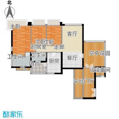 凯旋门139.00㎡3座03单元(4、6、面积13900m户型