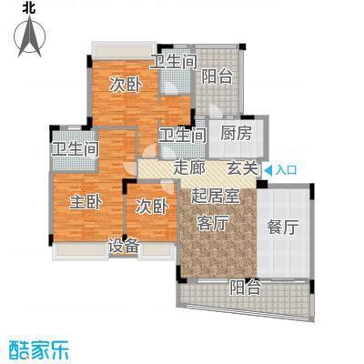雅居乐雍逸豪廷171.99㎡Y36座201面积17199m户型