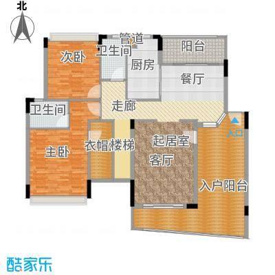 雅居乐雍逸豪廷155.68㎡Y12座601面积15568m户型