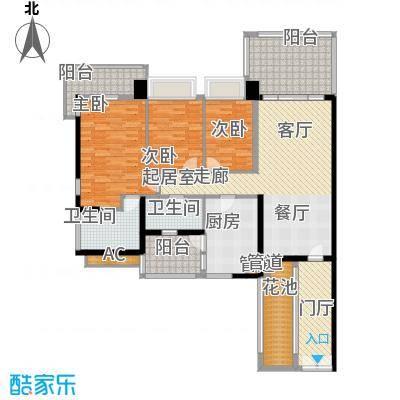 凯旋门137.00㎡4座03单元(4-20双面积13700m户型
