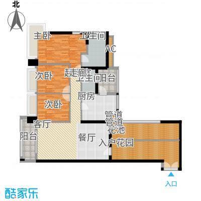 凯旋门133.00㎡1座03单元(4、6、面积13300m户型