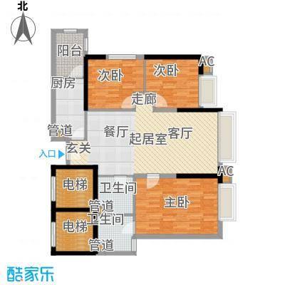 东鸣轩116.49㎡B栋10-29层82面积11649m户型