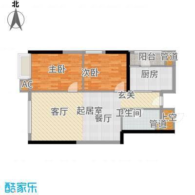东鸣轩78.14㎡B栋10-29层52面积7814m户型