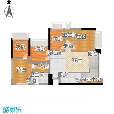 东海嘉园94.47㎡C塔11-32层043面积9447m户型