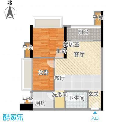 东海嘉园56.82㎡C塔4-11层4单位面积5682m户型