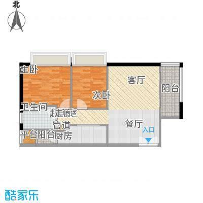 东海嘉园74.17㎡D座标准层4单位面积7417m户型