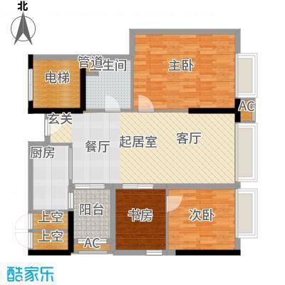 东鸣轩98.93㎡B栋10-29层92面积9893m户型