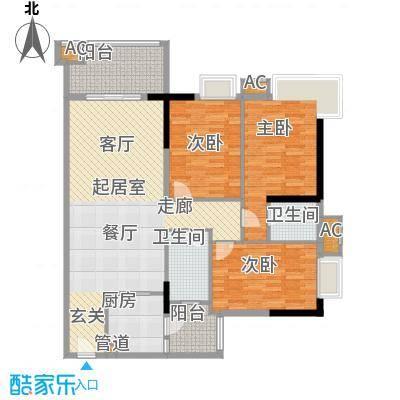 东鸣轩125.07㎡B栋10-29层72面积12507m户型
