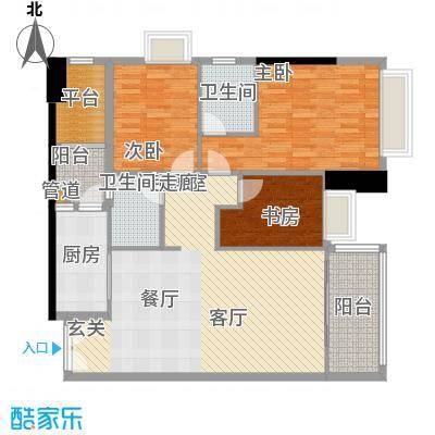 东海嘉园111.31㎡D座标准层5单位面积11131m户型