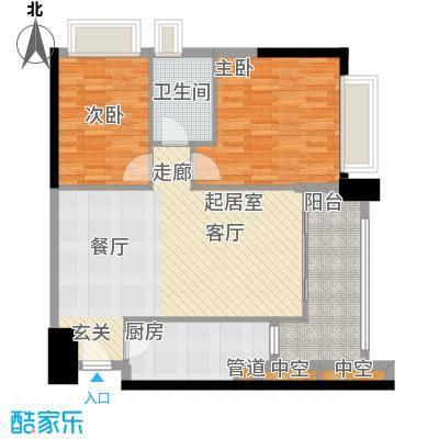 东海嘉园83.39㎡C塔4-11层5单位面积8339m户型